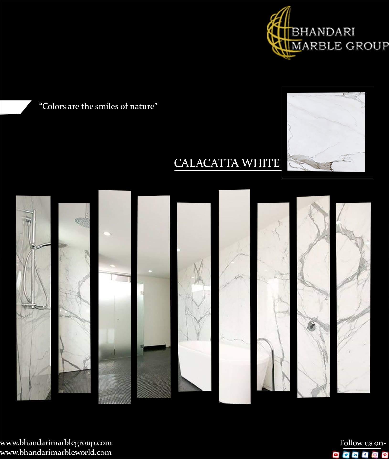 Statuario, Carrara, Calacatta Italian Marble