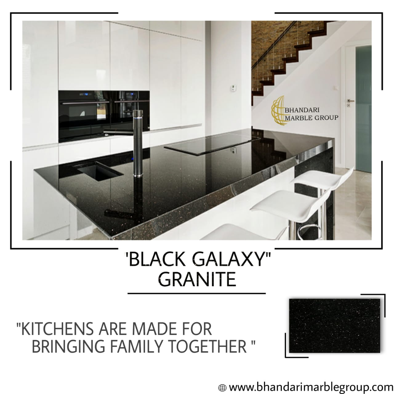 Black Galaxy Granite in India