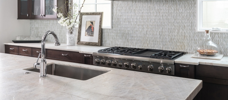 STONE OF THE MONTH- THE NEW AND EMERGING WHITE QUARTZITE: